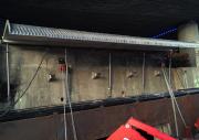 Fossefall over platevegg i Bjørvika under kontruksjon