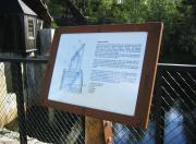 Infoskilt i corten stål, format A3, Eidsfossen kraftverk