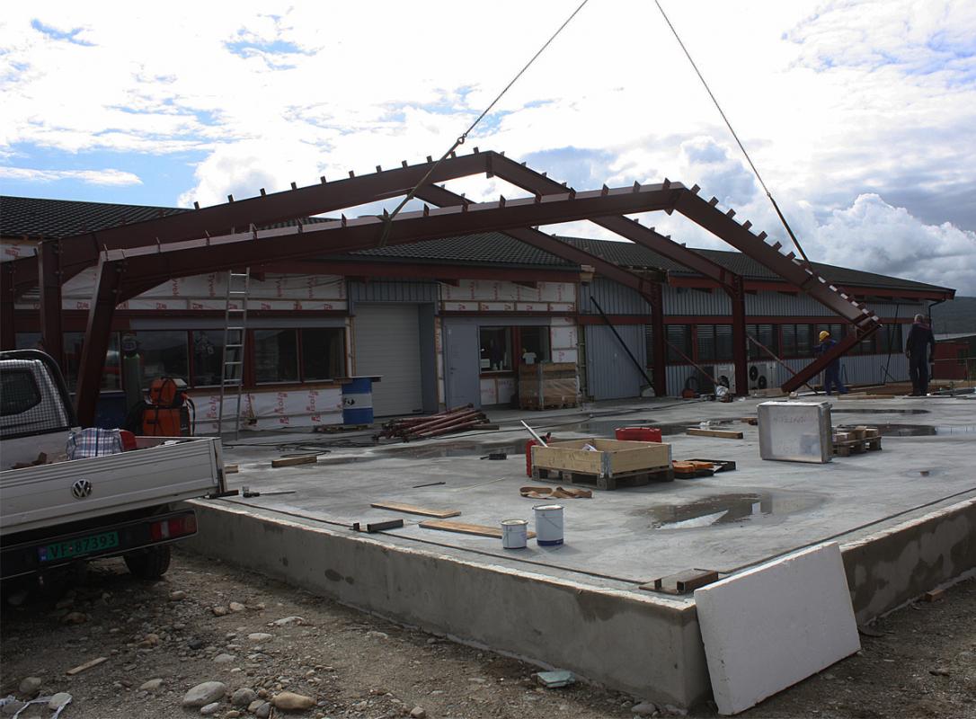 Norbitec Røros stålkonstruksjon oppføring