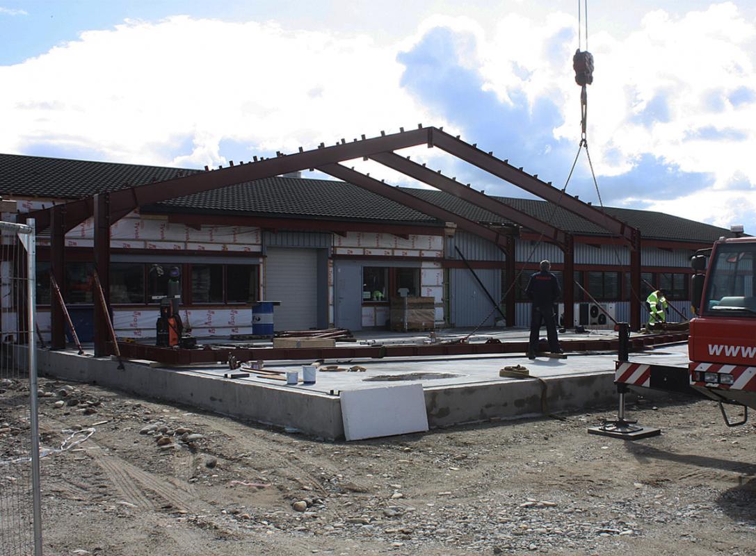 Norbitec Røros stålkonstruksjon fra venste